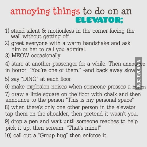 10 annoying things to do on an elevator
