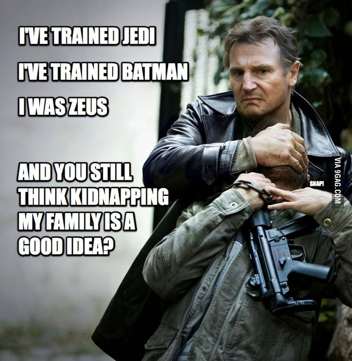 Messing with Liam Neeson is a BAD idea!