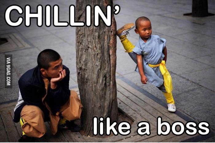 Chillin' like a boss.
