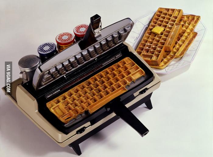 Typewriter Waffle Iron