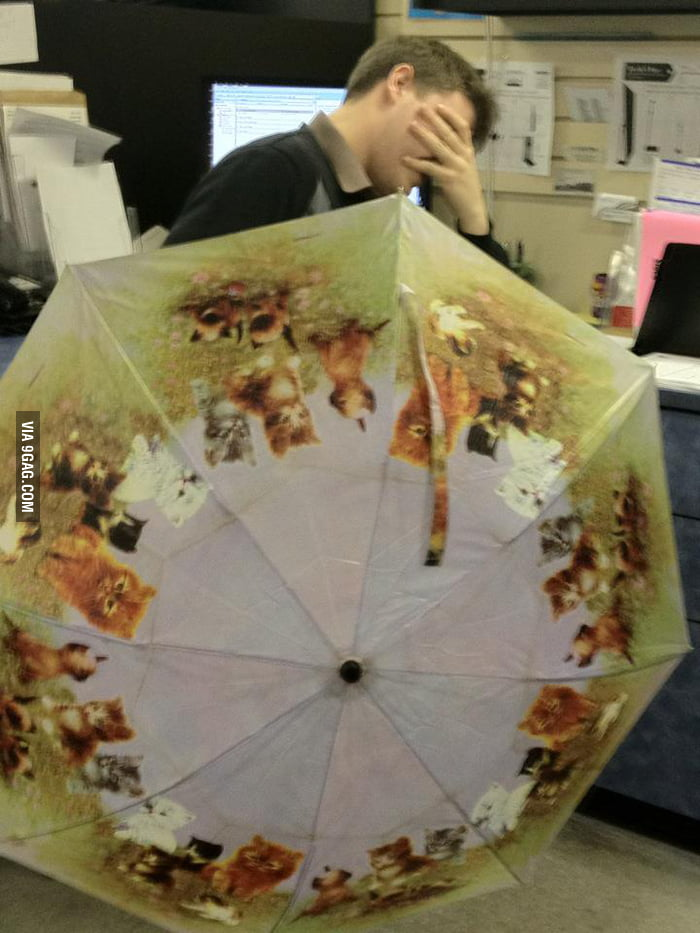 Last time I borrowed my aunt's umbrella...