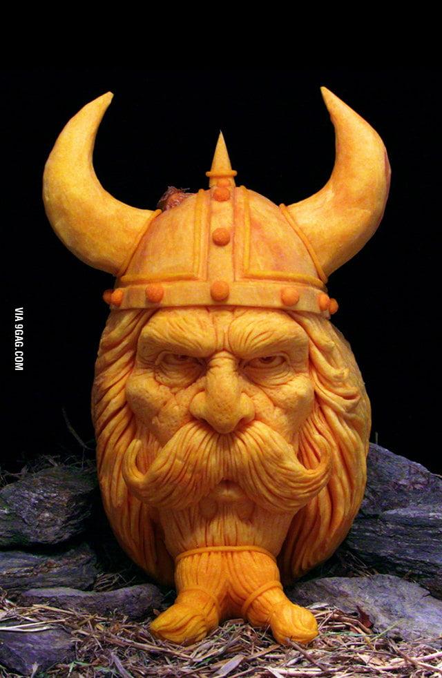 Unbelievable Viking Pumpkin