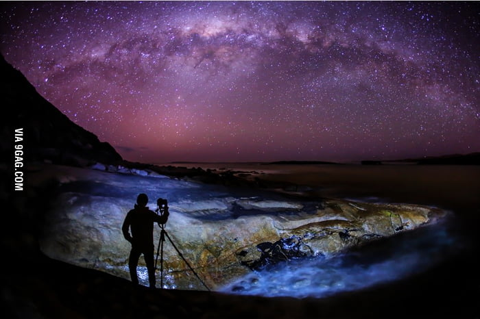 Incredible shot of the Milky Way in Australia