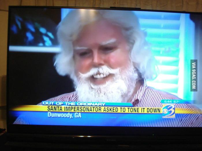 Tone it down, Santa