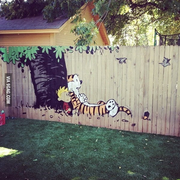 My friend painted this in someone's backyard