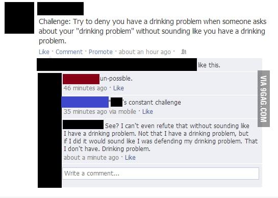 A 'drinking problem' problem