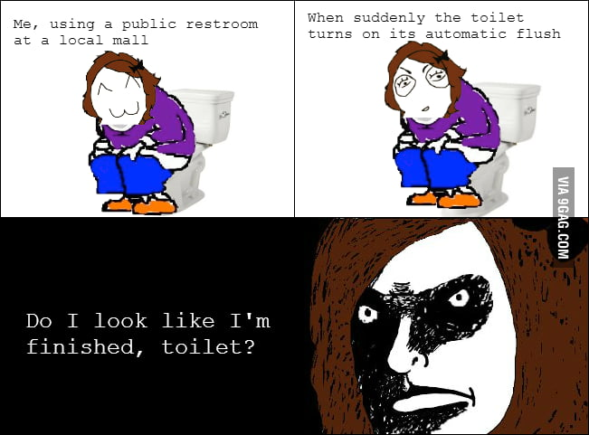 Automatic flush rage