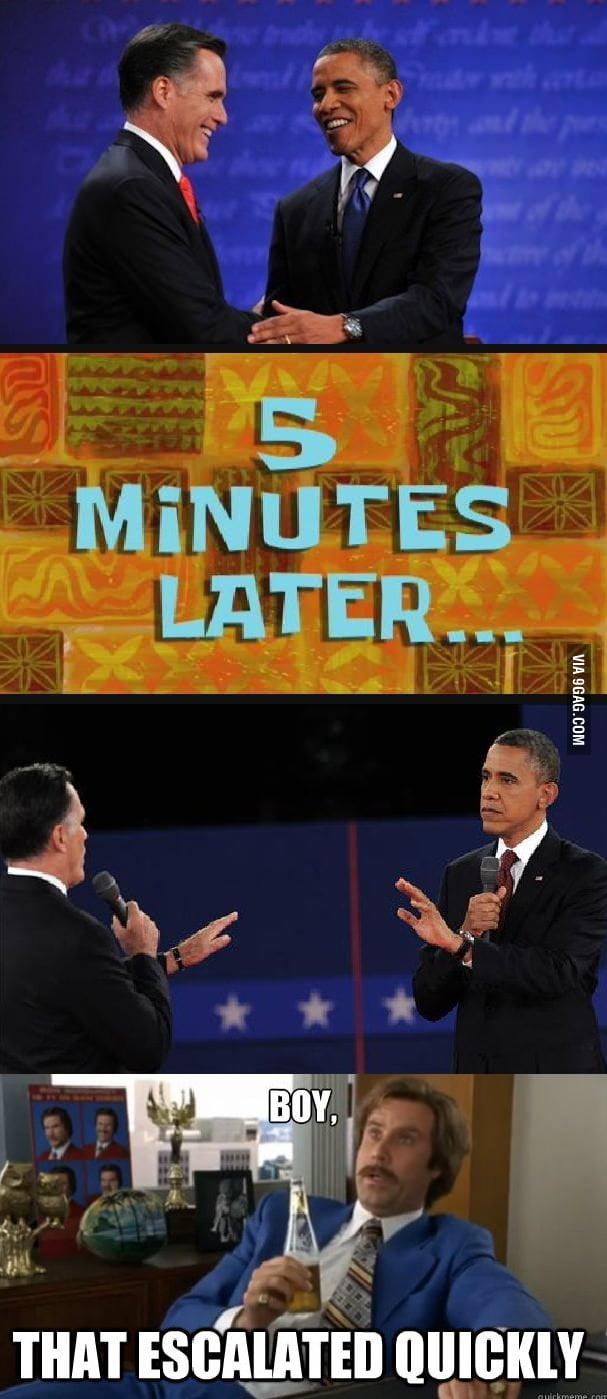 Last night's debate