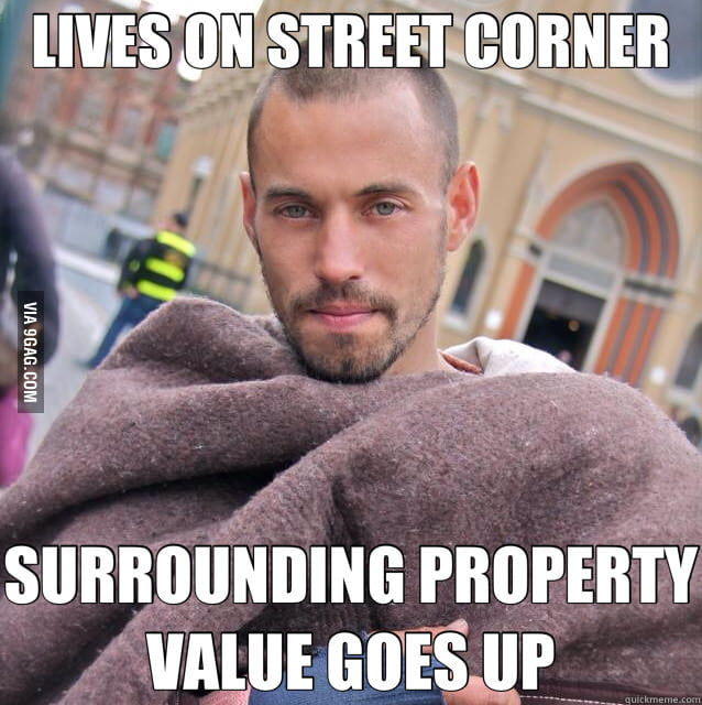 Ridiculously photogenic homeless guy