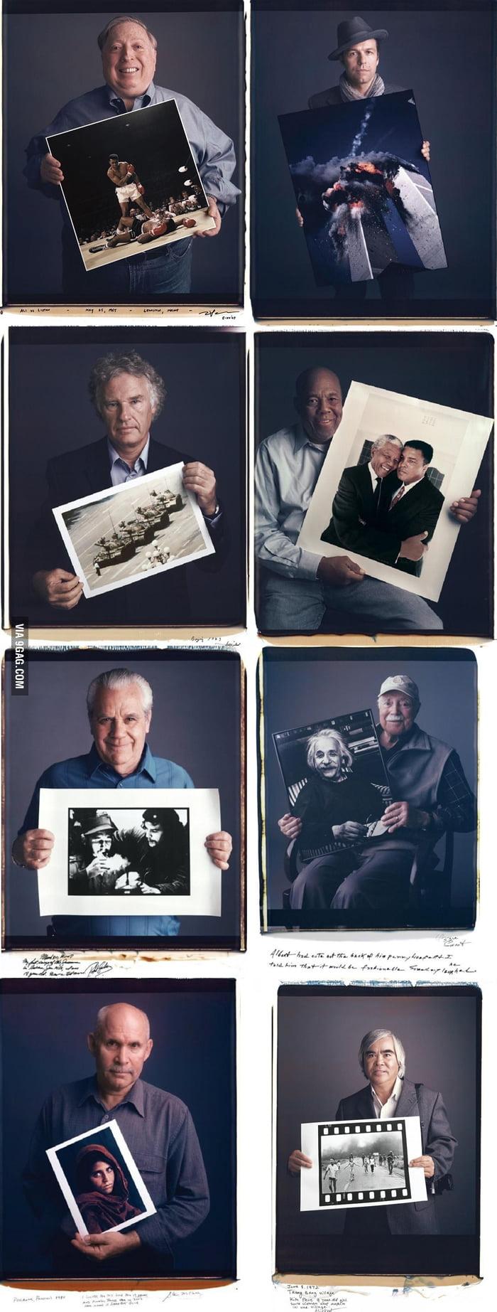 Photographers and their photos.