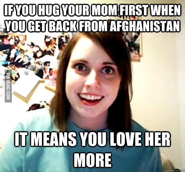 I broke up with her after I hugged my Mom
