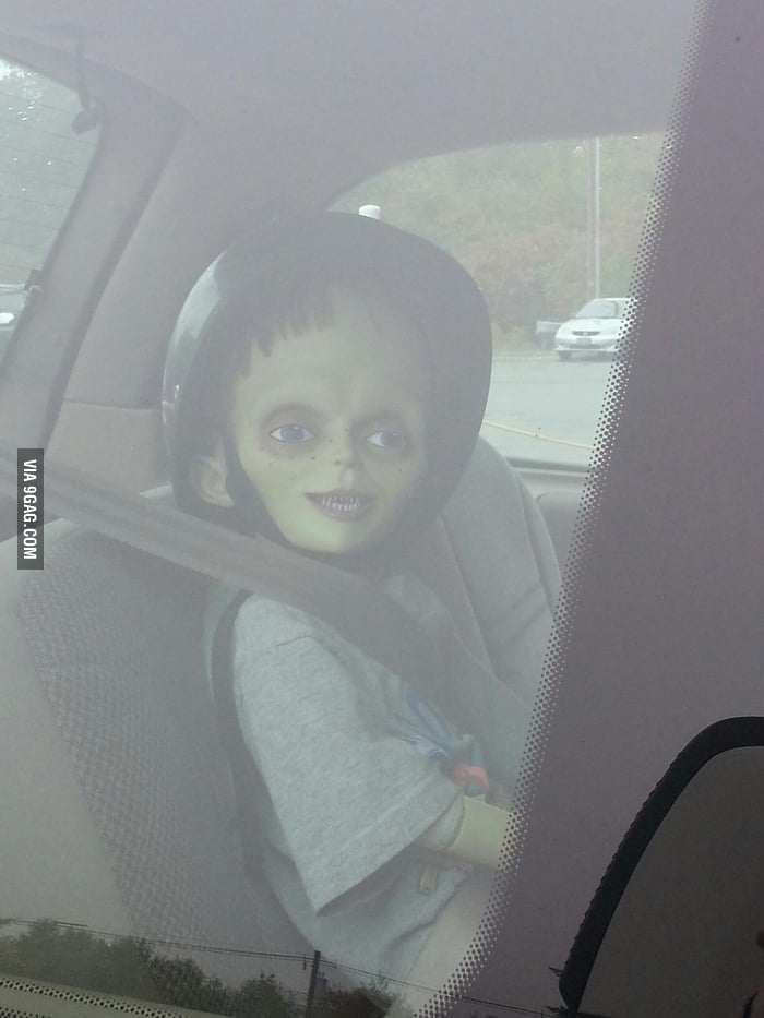 Someone left their.... kid... In the car parked next to mine