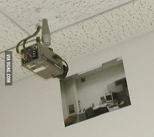 Under heavy surveillance