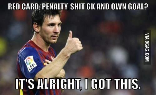 Good guy Messi saves Barça's ass .... again !!