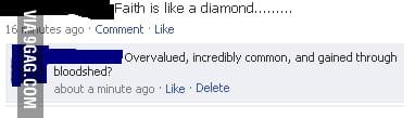 Faith is like a diamond...