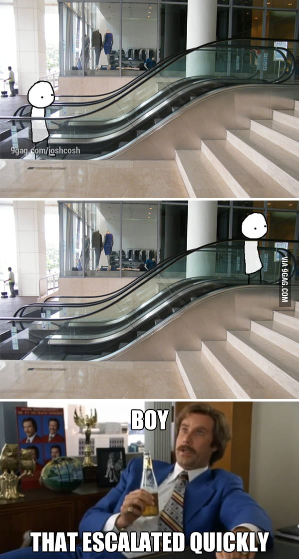 Tiny Escalator, Well