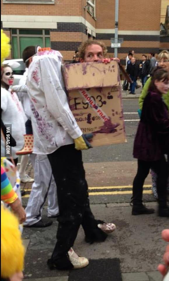 Probably the best zombie costume!