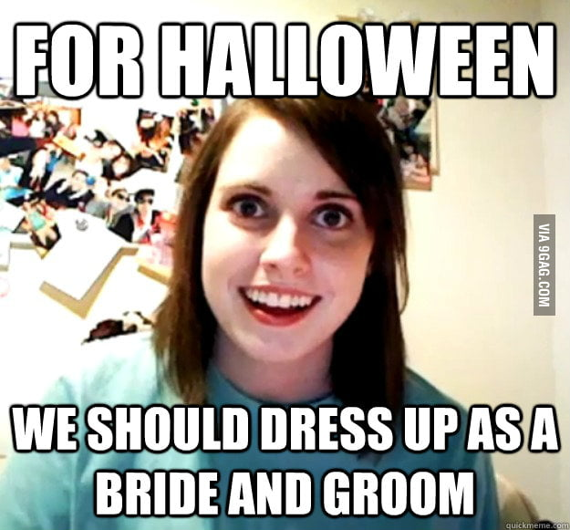 Overly Attached Girlfriend is looking forward to Halloween.
