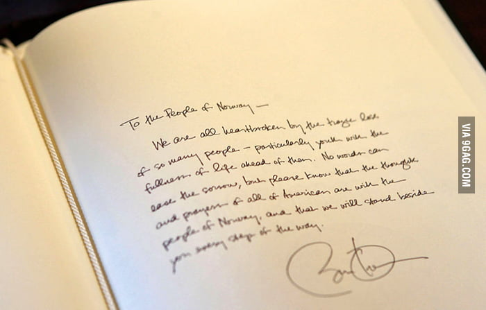 Obama may have the coolest handwriting of any President.
