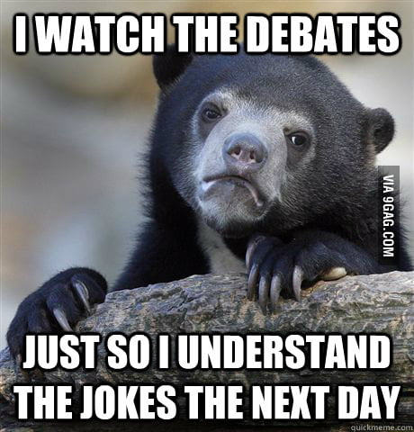Confession Bear on the election