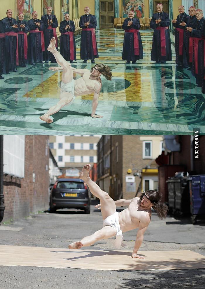 Breakdancing Jesus