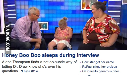 How Honey Boo Boo ends an interview