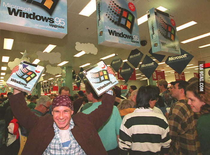 Windows 95 Launch Day Celebrations