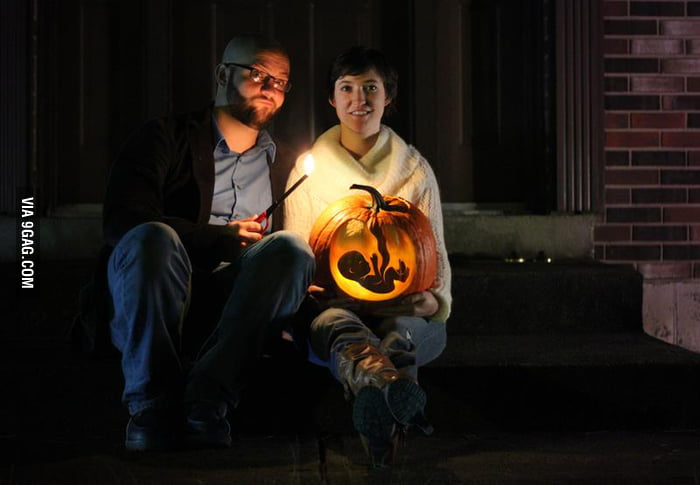 Awesome pumpkin-themed baby announcement.