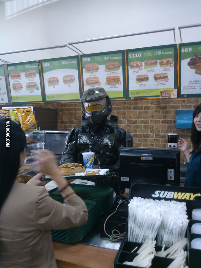See who served me today at Subway?