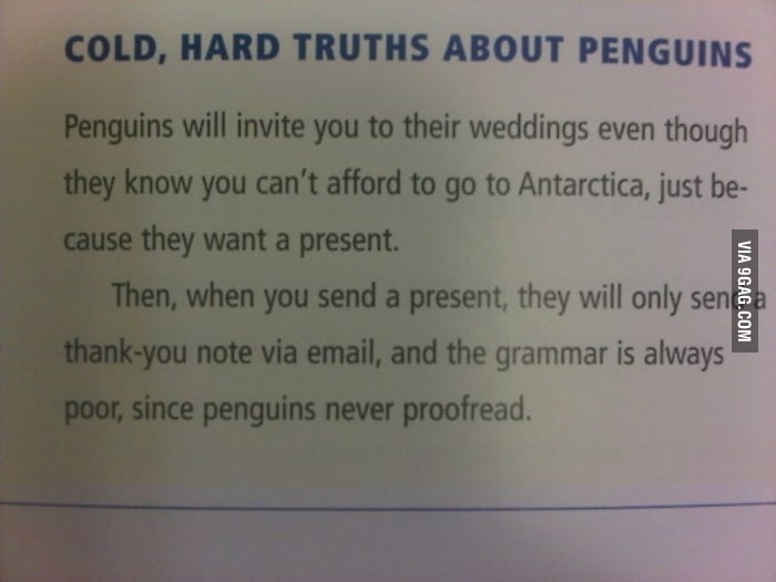 Cold, Hard Truths About Penguins
