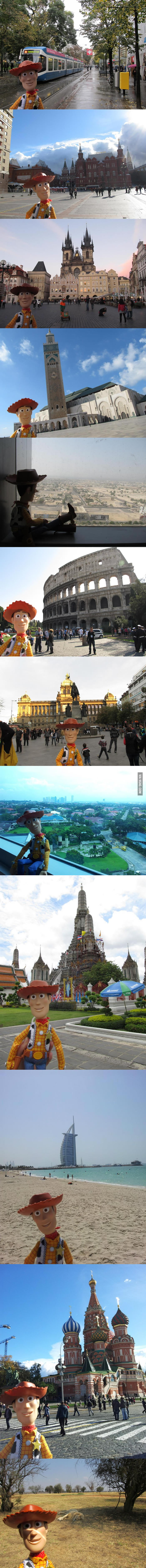 My friend traveled a lot and she's also a huge Toy Story fan