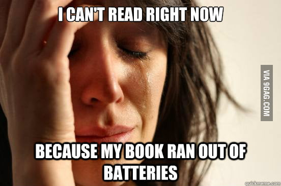 First world Kindle problems