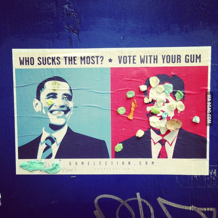 Vote with your gum