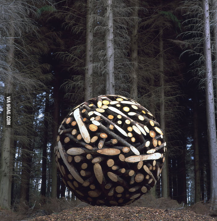 The giant wood sphere