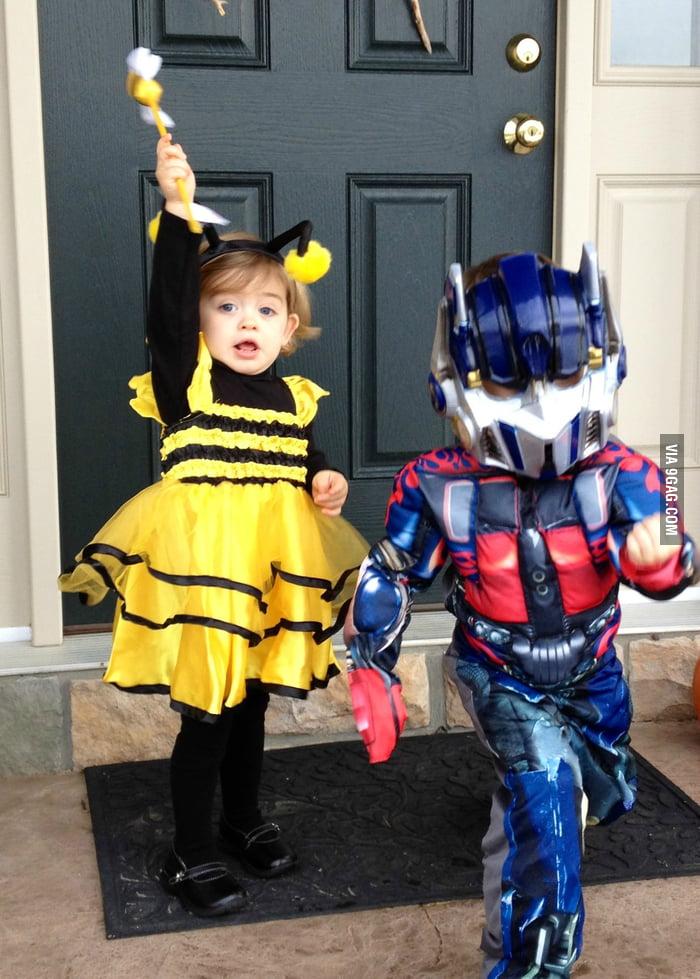 Optimus Prime and Bumblebee... close enough.