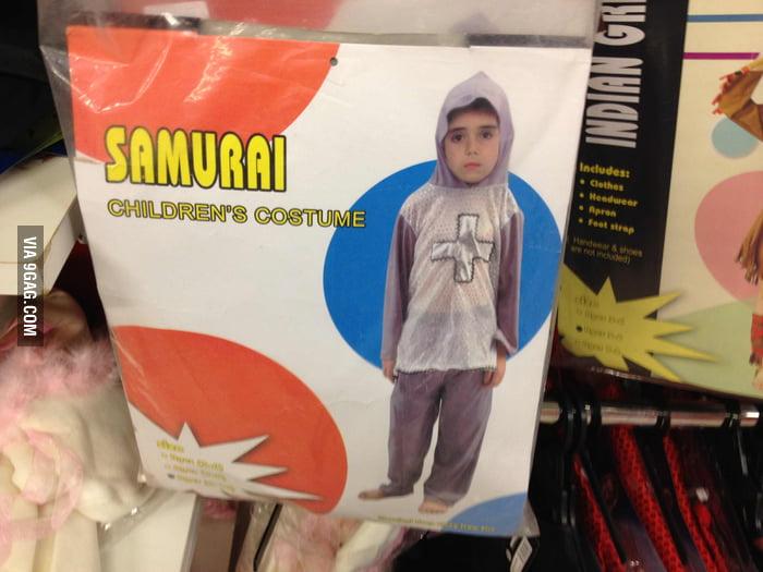 Samurai Children's Costume? Seems legit.