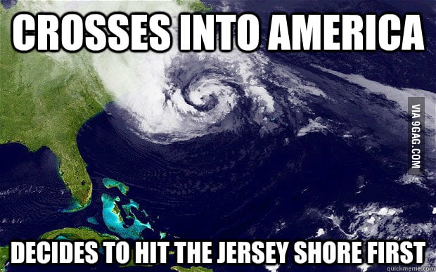 Hurricane Sandy doesn't like Jersey Shore.