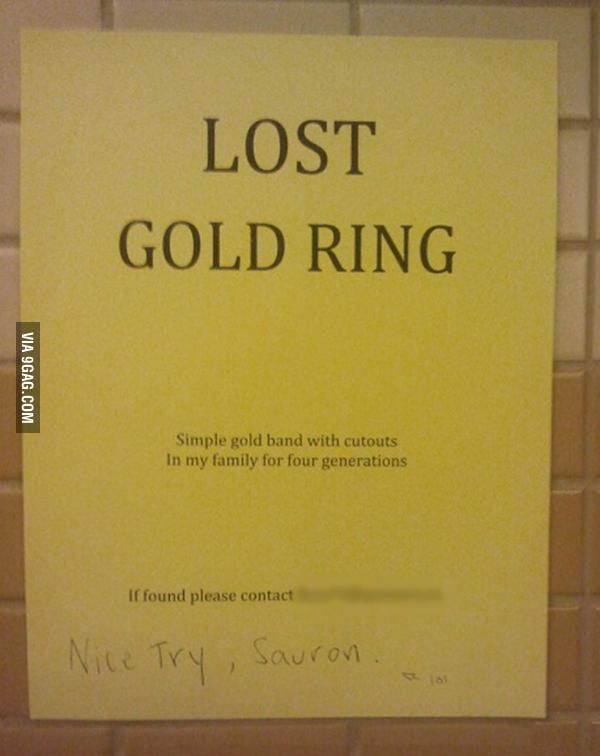 Sauron is getting creative