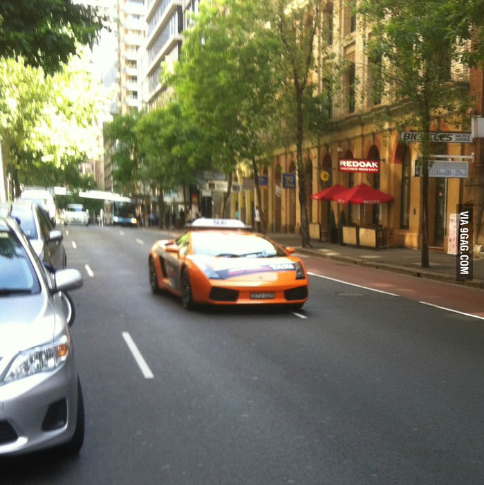 Lamborghini taxi?