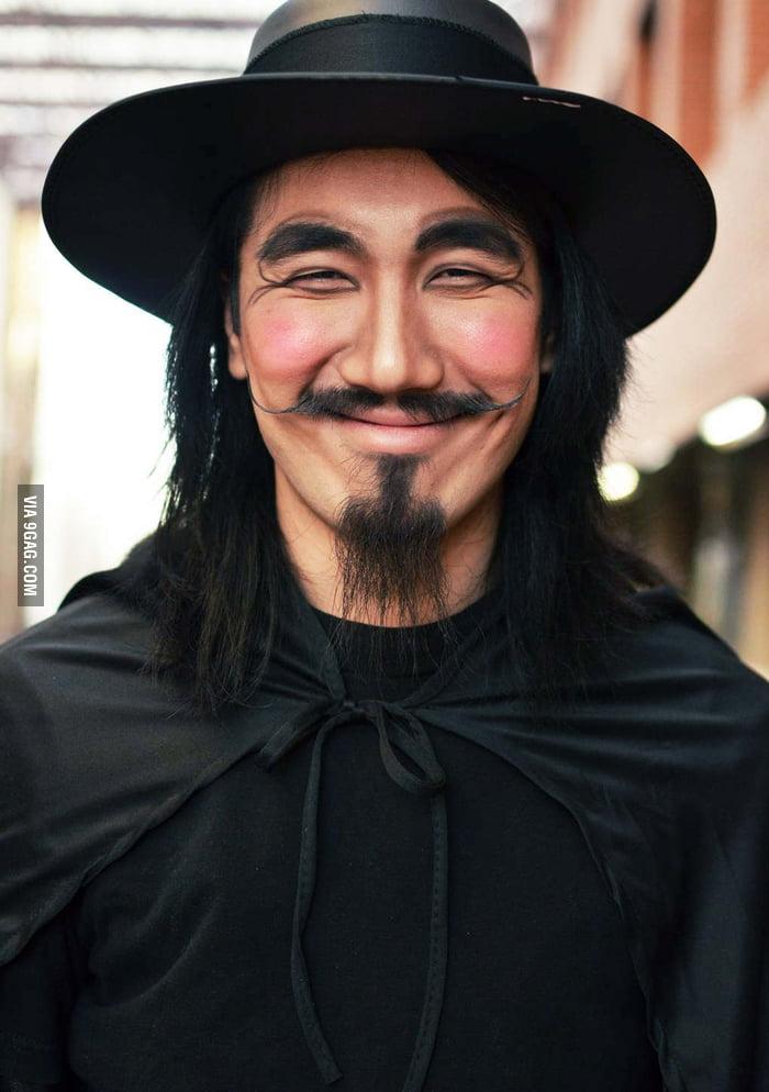 V for Vendetta without mask.