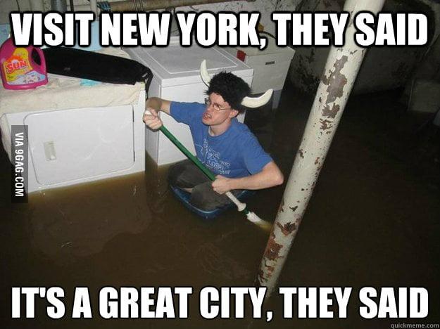 Tourist During Hurricane Sandy