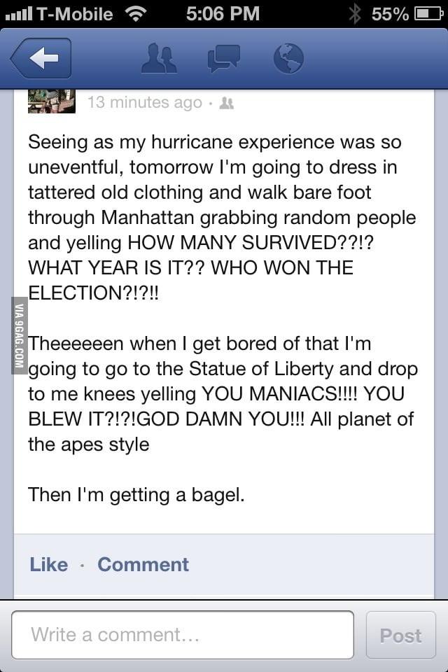 Hurricane experience