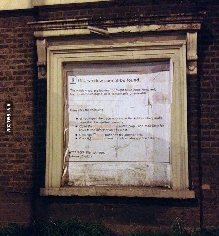 Walked past this 'window' last night