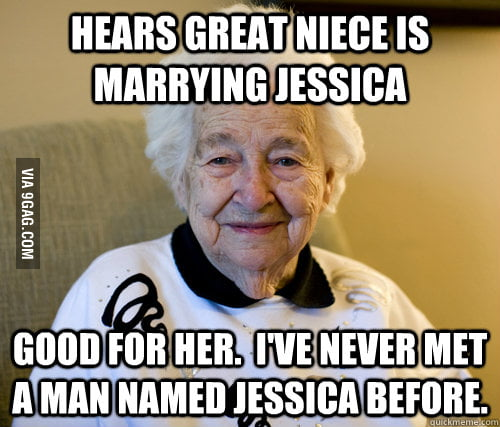 When my grandmother got the wedding invitation.