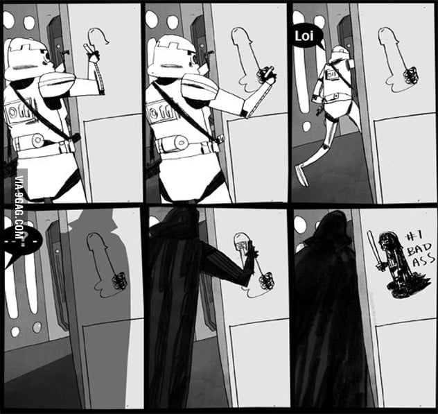 Darth Vader is a badass graffiti artist.
