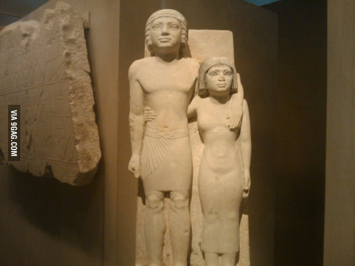 Boob grab has a long history. (taken in Metropolitan Museum)