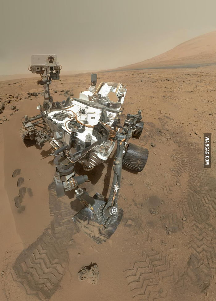Portrait of Mars Rover Curiosity... who took this picture?