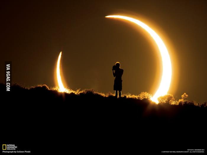 Annular Solar Eclipse. Albuquerque, New Mexico, USA.
