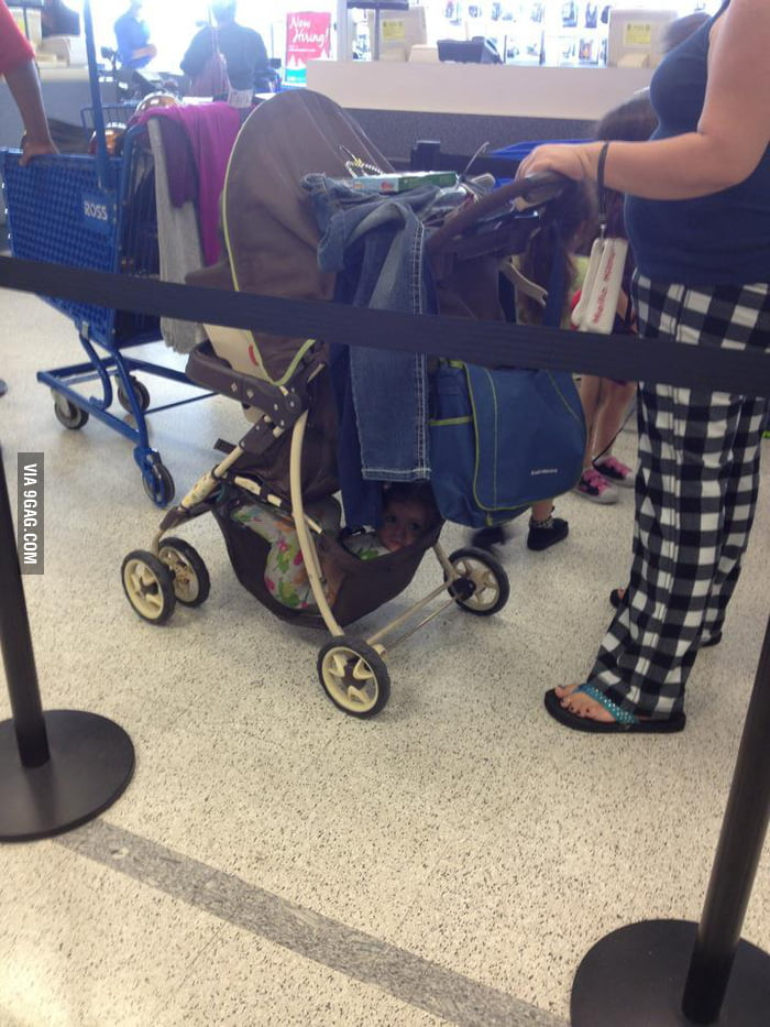 The baby stroller is not for the baby.