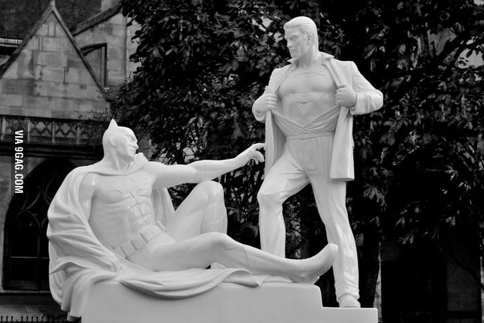 Weird Superheroes Statues